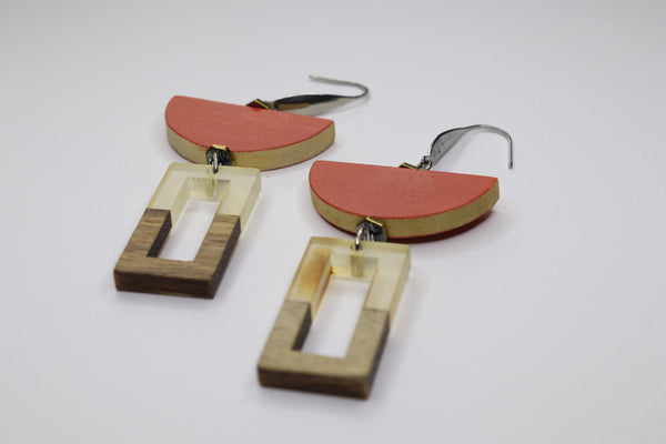 Retro lover Sanguine Earrings