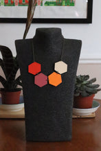 Candy Party Wood Hexagon Necklace Reversible