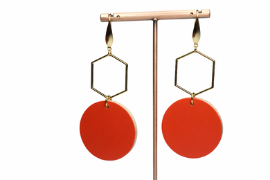 DEEP ORANGE EARRINGS E210033