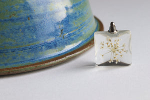 White Dry Flower Pendant