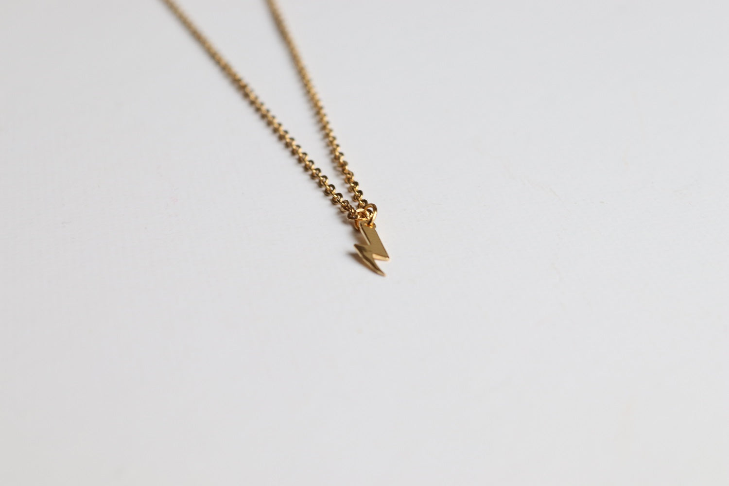 Golden Lighting Bolt necklace