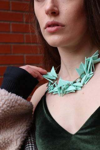Mint Triangles Necklace