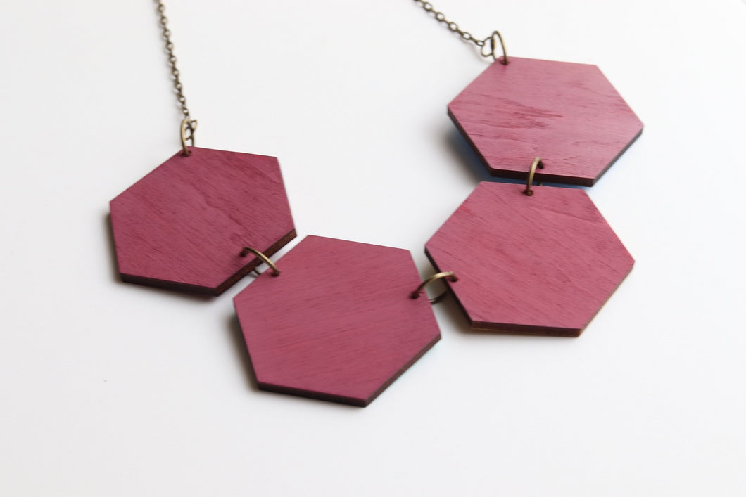 Hexagon Statement Necklace Autumn 19 (Reversible)
