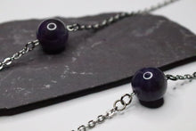 Long Necklace Purple Stone