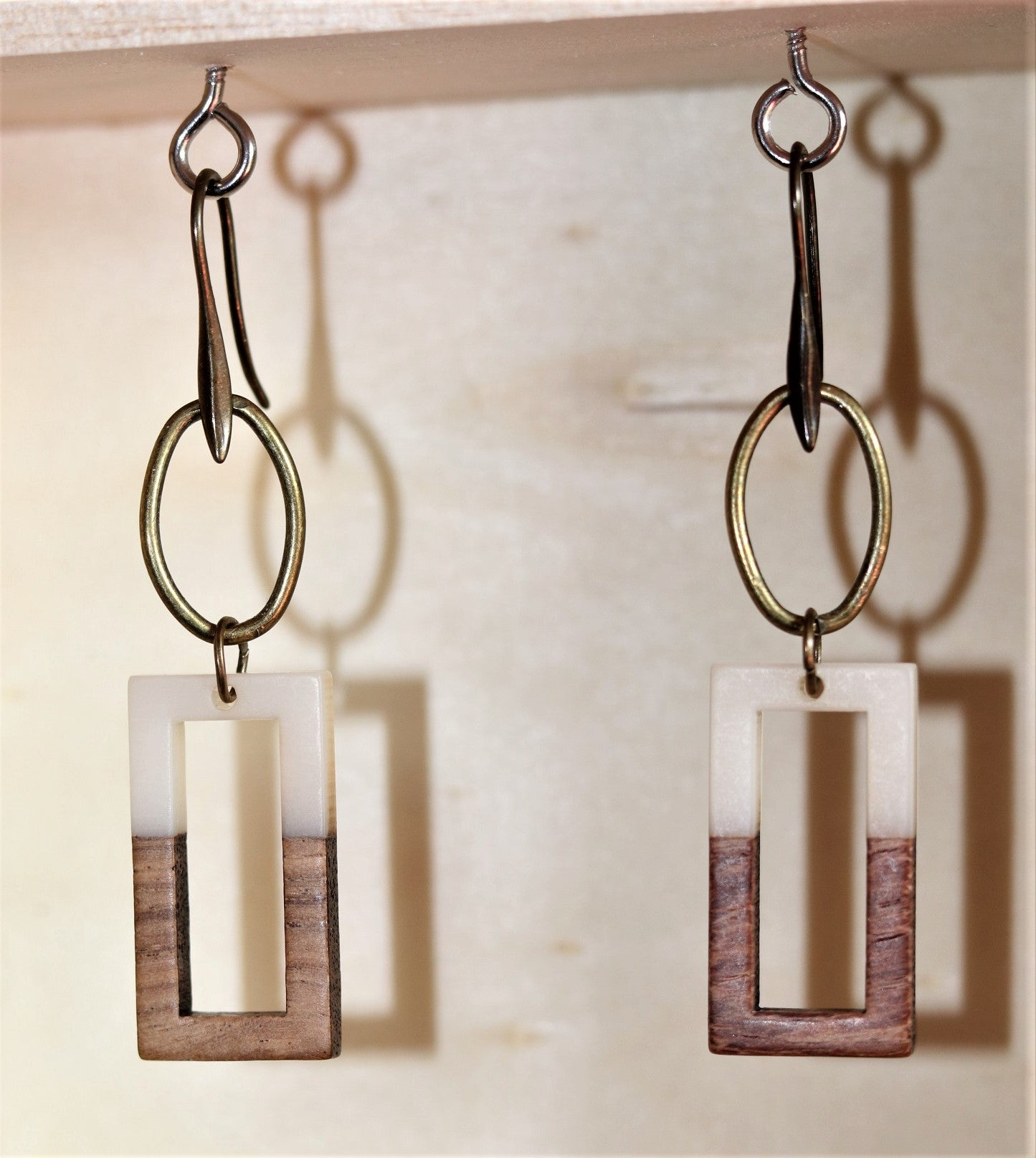 Rectangle Spa Earrings