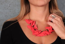 Red Triangles Necklace Light weight