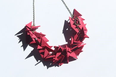 Strawberry Wine Triangles Necklace