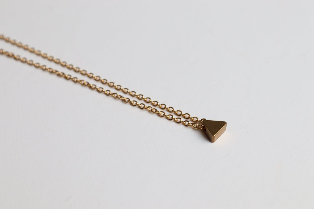 tiny triangle necklace dublin