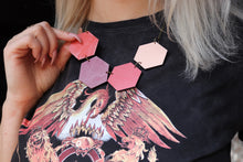 Pretty Circus Wood Hexagon Necklaces