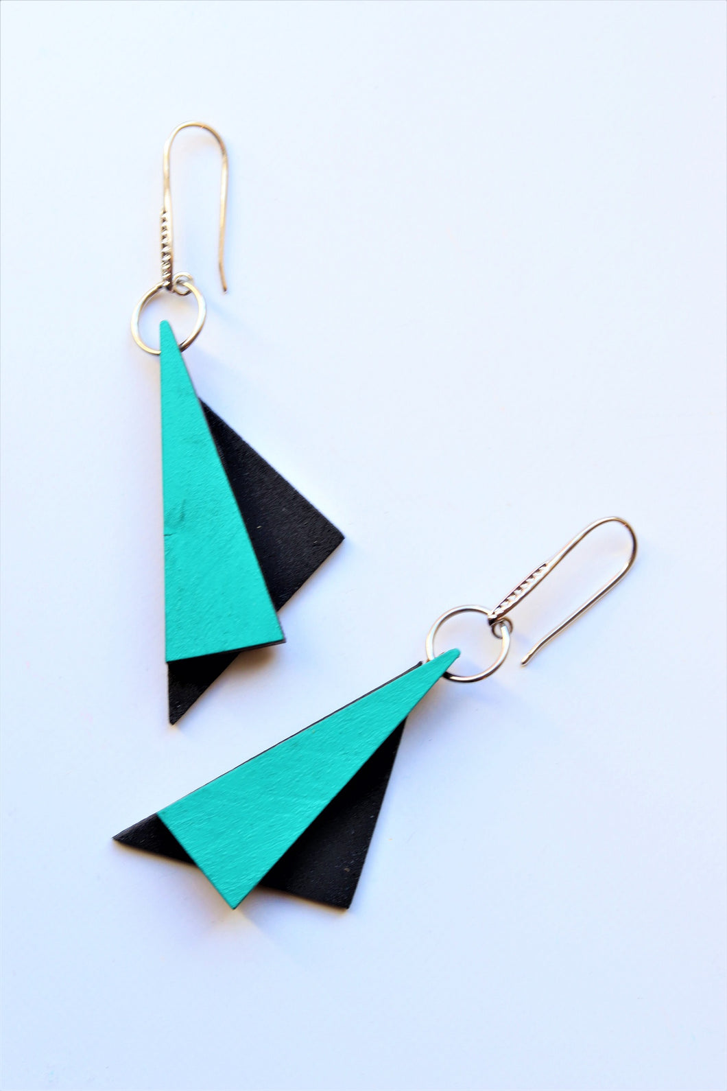 Three Triangles Drop Earrings
