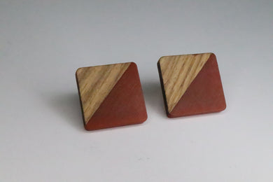 Red Wood and Resin Studs