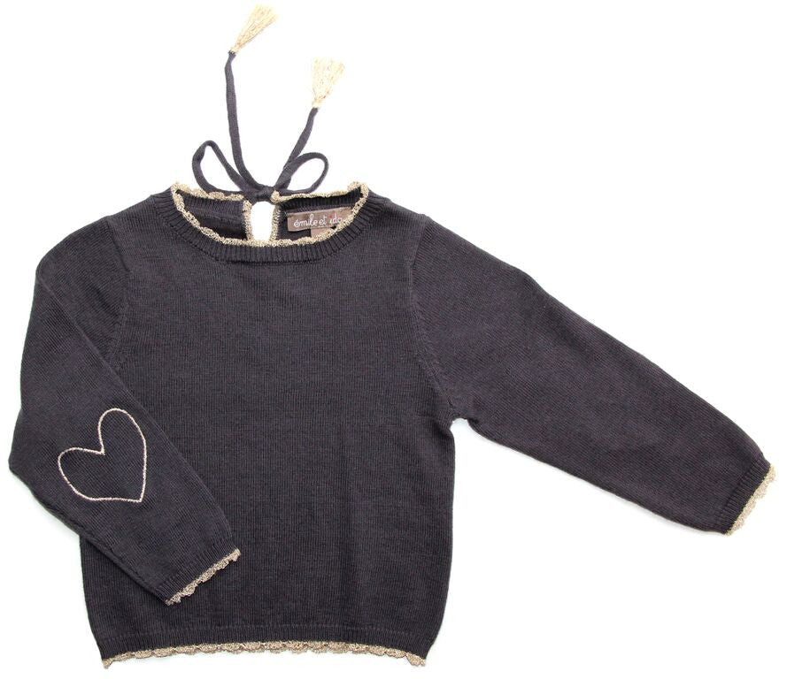 Elbow Heart Jumper Gris