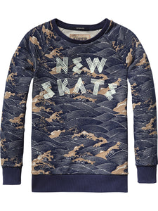 Printed Crew Neck Sweat