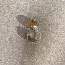 Baltic Amber sterling silver ring R5/A01