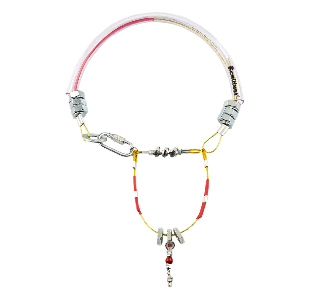 Mellow by Melita Rus metal necklace with  red swarovski pearl