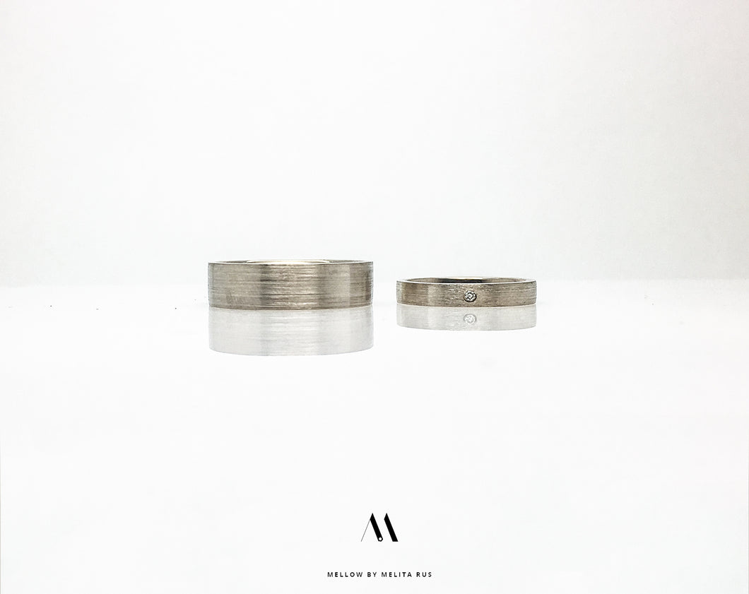 Custom made wedding rings CMW/01