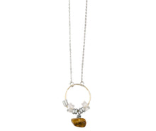 silver chain pendant with Baltic Amber