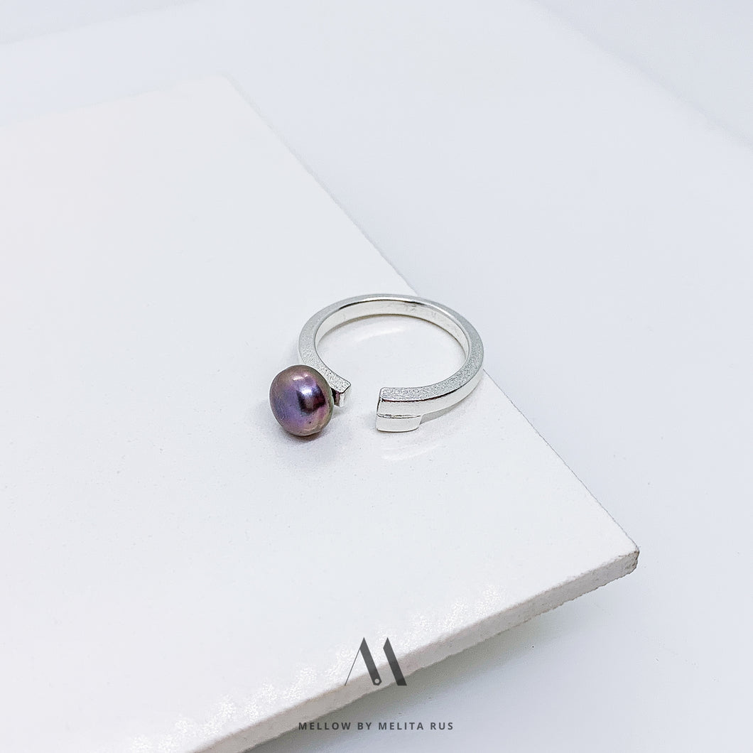 Sterling silver pearl ring R5/SiP12