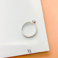 Sterling silver pearl ring R5/SiP10