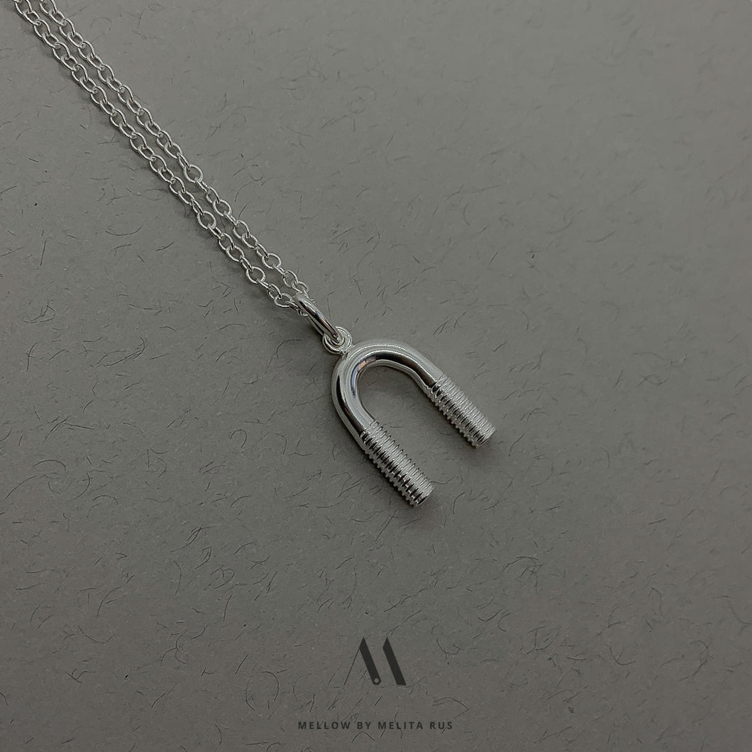 Unisex sterling silver necklace N4/SiEV5