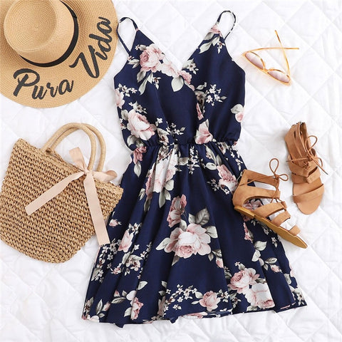 9a1f3eebba Angel Wings Gothic Dress. Regular price  11.72. Navy Blue Floral Dress