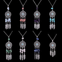 Catch your dreams with this beautiful Indian Feather Dreamcatcher. Available in many colors!