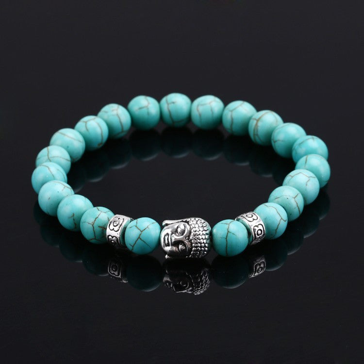Be at one with the Zen of this Buddha Natural Stone Bracelet. Available in different colors.