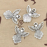 Pack of 15 Guardian Angel Charms for your Bracelet or Necklace