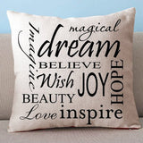 Positive Words Cushion Case. Dream, Love and Inspire!
