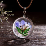 BestOnlineDried Flower Pendant Necklaces