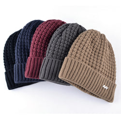 BestOnlineMen's Knitted Winter Beanie - Black,Red,Gray,Khaki,Blue
