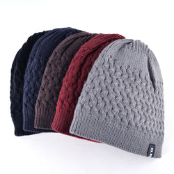 BestOnlineKnitted Beanie Hat For Men - Black,Red,Gray,Blue,Yellow,Brown