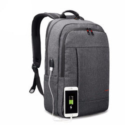 BestOnlineAnti-Theft With USB Charging Backpack For 15.6inch Laptop  - Black grey,Grey