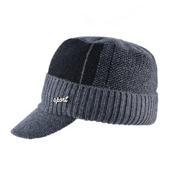 BestBuySale Baseball Hats Men's Winter Knitted Baseball Caps - Black,Gray,Blue