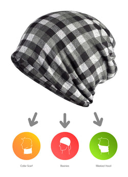 BestOnlineMen's Winter Fashion Multifunction Striped Collar Scarf/Beanie