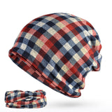 BestBuySale Skullies & Beanies Men's Winter Fashion Multifunction Striped Collar Scarf/Beanie