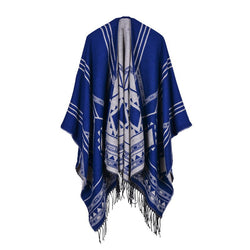 BestOnlineFashion Women's Geometric Design Winter Poncho Scarf - 6 Colors