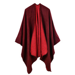 BestBuySale Poncho Scarves Solid Color Fashion Women's Poncho Scarf - 6 Colors