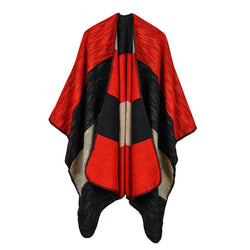 BestOnlineWomen's Wide Stripes Fashion Poncho Scarf - 6 Colors