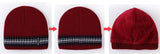 BestOnlineFashion Knitted Beanie Hats for Men with Velvet Inside - Red,Gray,Blue,Coffee,Black