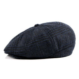 BestBuySale Beret Hat Men's Fashion Winter Beret Hat - Black,Dark Gray,Blue Plaid,Light Gray