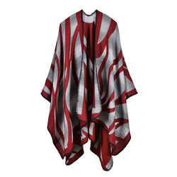 BestOnlineWomen's Fashion Winter Striped Poncho Scarf - 5 Colors