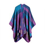 BestBuySale Poncho Scarves Winter Women's Striped Poncho Scarf - 5 Colors