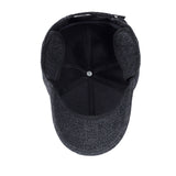 BestOnlineMen's Knitted Winter Baseball Cap With Earflaps - Black,Gray,Coffee