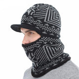 BestOnlineMen's Winter Knitted Balaclava Cap - Black,Gray,Navy