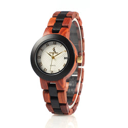 BestBuySaleTwo-tone Wooden Watch for Women in Wood Box