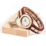 BestOnlineTwo-tone Wooden Watch for Women in Wood Box