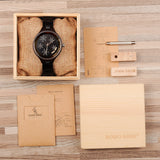 BestBuySale Wooden Watch Simple Women's Snowflake Design Wooden Watches in Wooden Gift Box