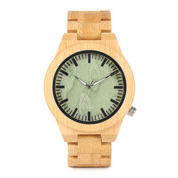 BestBuySaleFashion Bamboo Watch With Green Dial in Gift Box