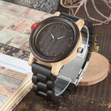 BestOnlineMen's/Women's Couple's Arabic Numerals Ebony Band Wooden Watches in Gift Box